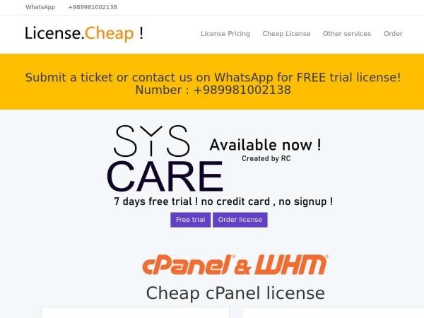 license.cheap